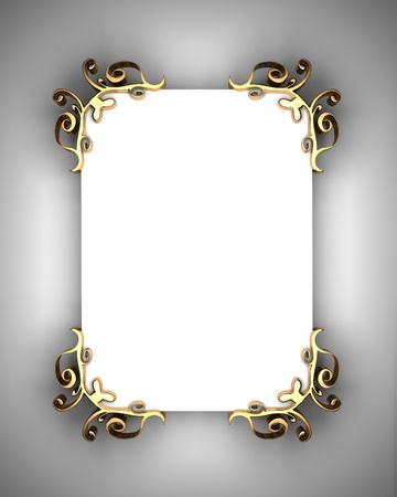 White Background with White Band Stock Photo - 12839427