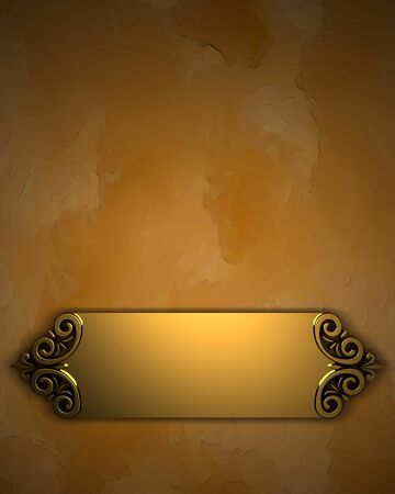 formal: Yelow Background with Golden Band