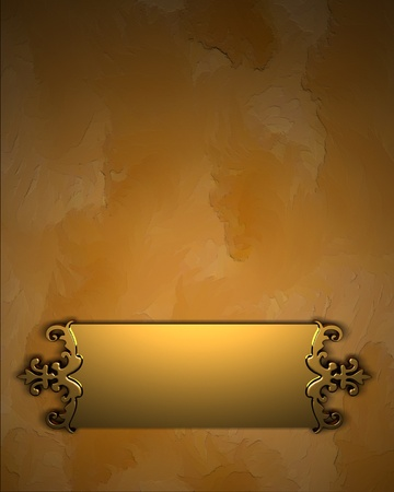 Yelow Background with Golden Band photo