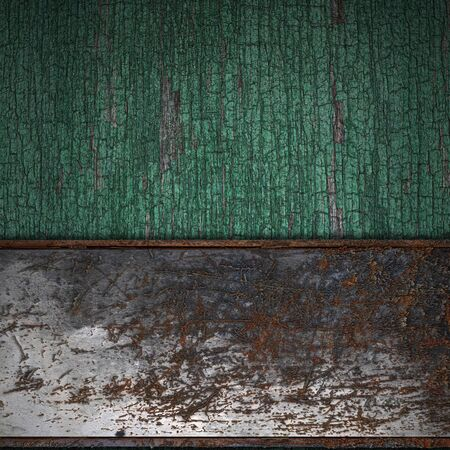 Rust Band on brown wood texture with natural patterns photo