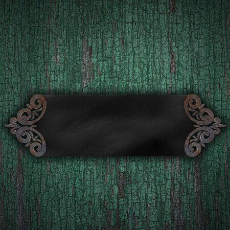 Black Band on brown wood texture with natural patterns photo