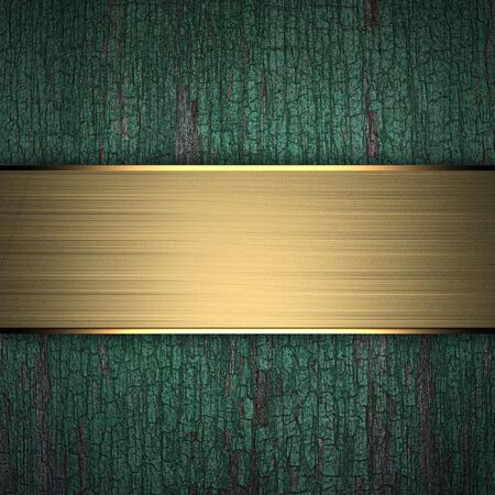 Wood Background with Golden Band photo