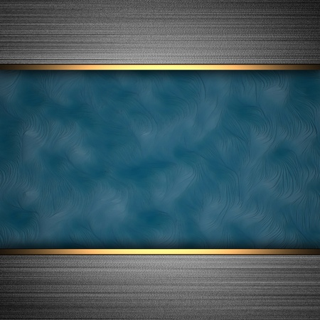 aluminum background with blue band