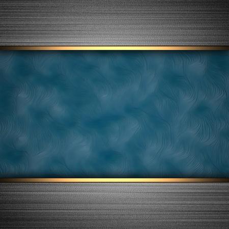 elegant background: aluminum background with blue band