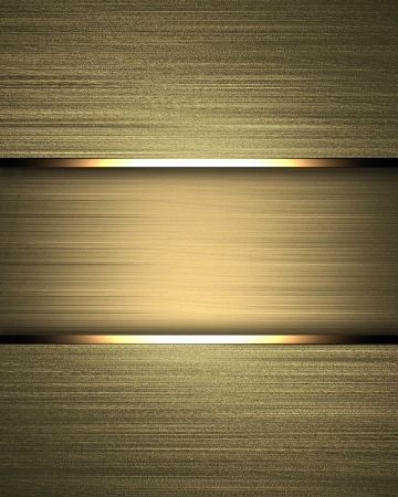 Gold background with gold texture stripe layout photo