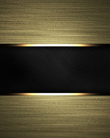 Gold background with black texture stripe layout photo