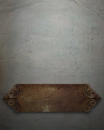 rust metal plate on a wall photo