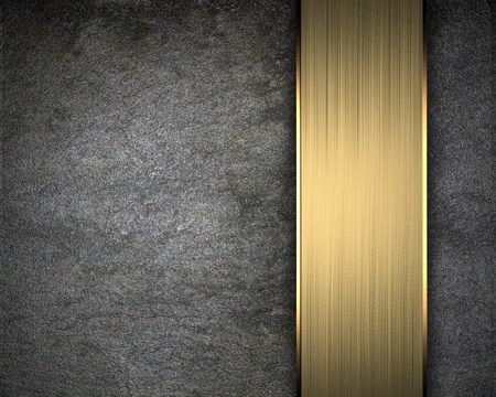 Background wall with gold metal framework photo