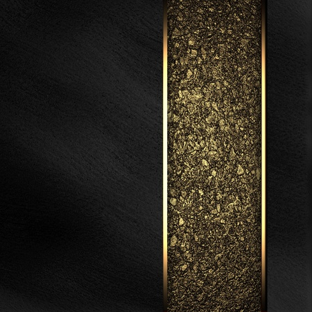 Black background with gold texture stripe layout Stock Photo - 12839602