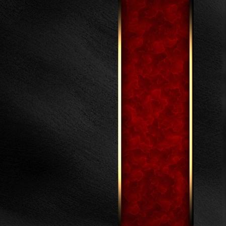 ruban noir: Fond noir avec noir disposition texture bande rouge