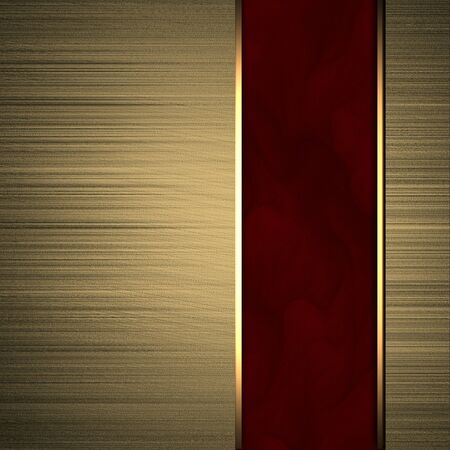 Gold background with red texture stripe layout photo
