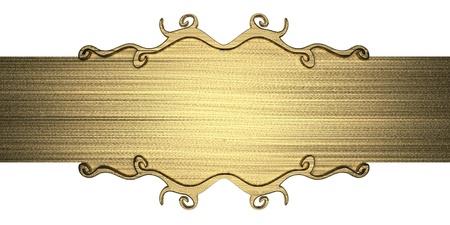 title page: plantilla de la placa de metal de oro Foto de archivo