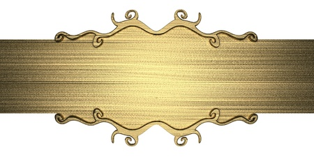 template of gold metal plate Stock Photo