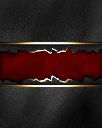 Black background with crack red texture stripe layout
