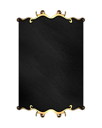White Background with Black plate and gold trim Stock Photo - 12839417
