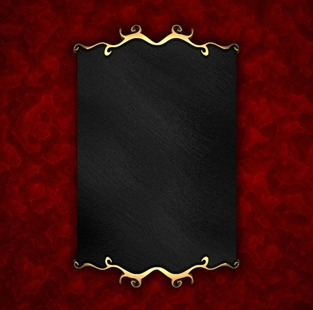 exposition: Red Background with Black plate and gold trim