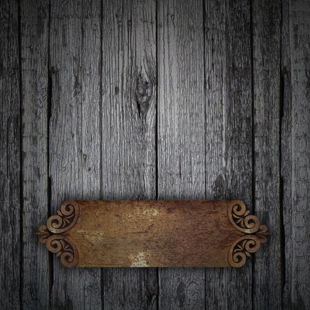 placa bacteriana: Fondo de madera con el �xido