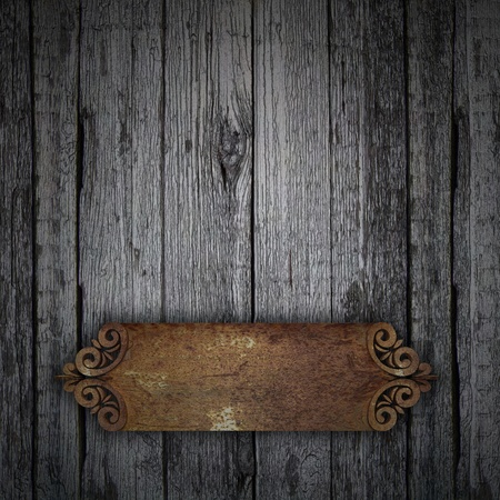 Wood Background with rust  photo