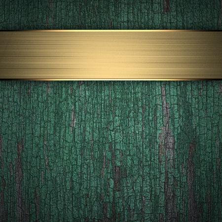 placa bacteriana: Marco de un árbol viejo y un marco de oro