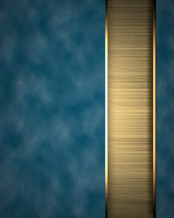 copy: Blue background with gold texture stripe layout