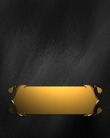 classy background: Black Background with Golden Band