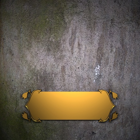 Old wall Background with Golden Band photo