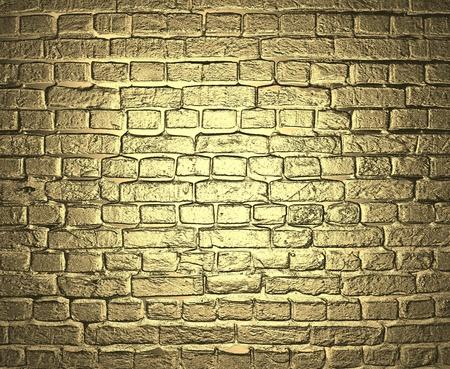 lingotto: Fondo oro Muro di mattoni Archivio Fotografico