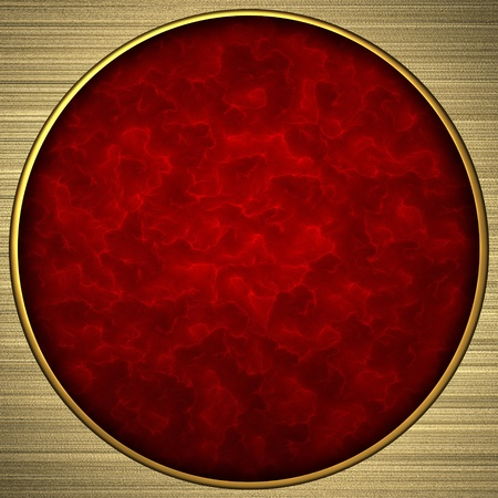 Background gold circle with the red rich texture photo
