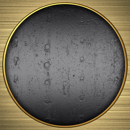 Background gold circle with the texture of the metal photo