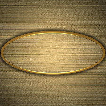 gold plate on a gold background Stock Photo - 13259975