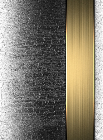 template metal plate with a gold wood stripe