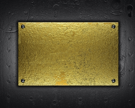 gold metal plate photo