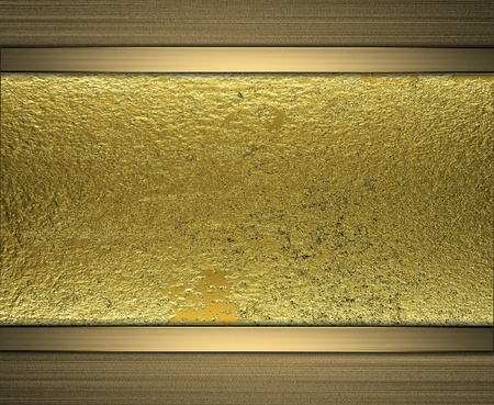 gilding: template gold plate with a gold stripe