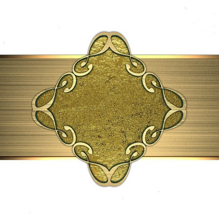 Gold plate pattern photo