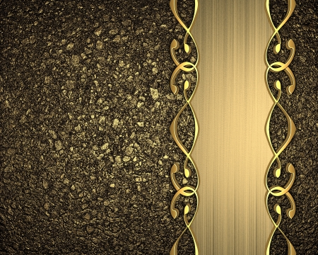 Gold background with a gold stripe patterned photo