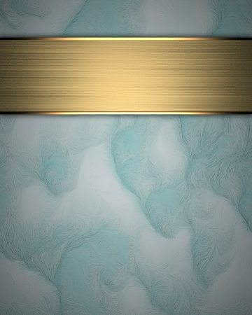 Blue Background with Gold plate