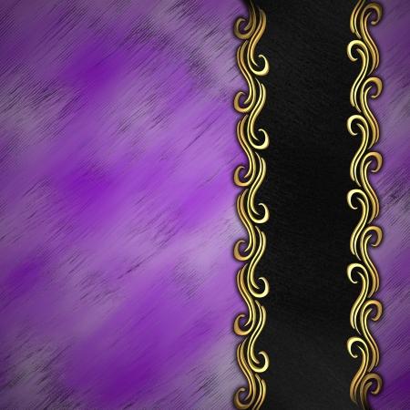 Beautiful pattern of gold on a purple background Stock Photo - 14124453