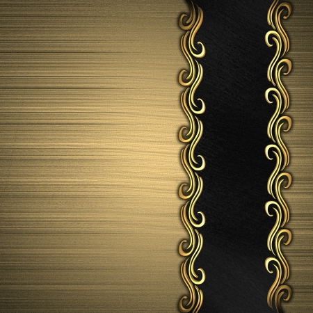 Beautiful pattern of gold on a gold background Stock Photo - 14124458