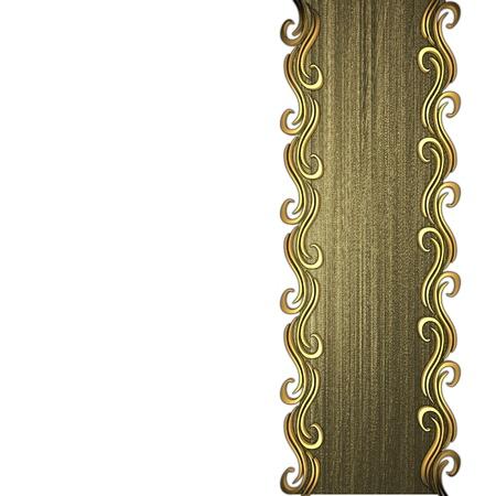 Beautiful gold pattern on a white background Stock Photo - 14124234
