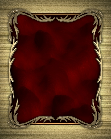 Gold background with a red nameplate with gold pattern photo