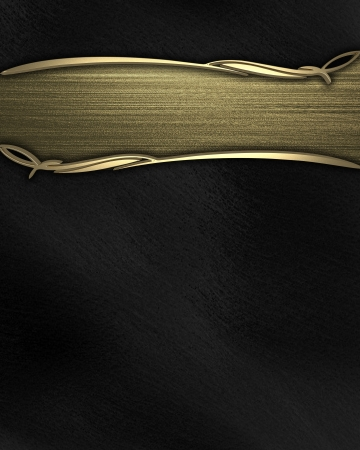 Black background with gold texture stripe layout Stock Photo - 14623942