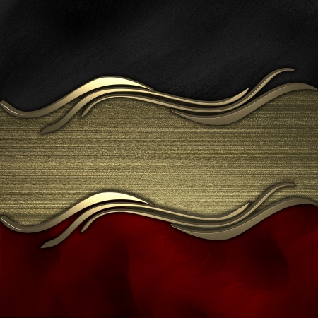 Black-red background with gold texture stripe layout photo