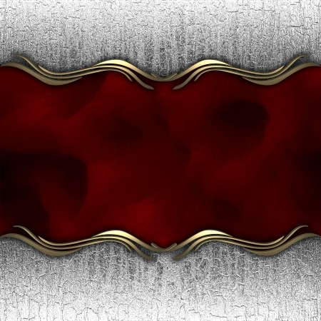 metallic background with a red nameplate Stock Photo