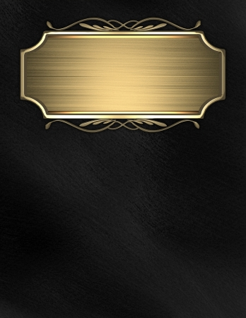classy background: Black background with gold nameplate for writing