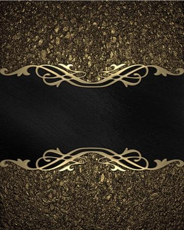 金: 金背景の黒いプレート上のパターン