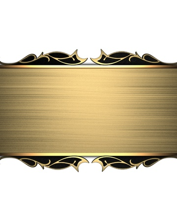 gold plaque: Template of gold plate