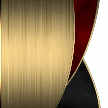 Gold background with a beautiful red cut Stock Photo - 15242011