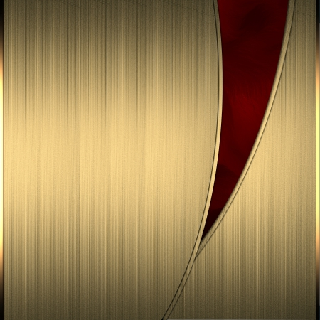 Gold background with a beautiful red cut Stock Photo - 15242025