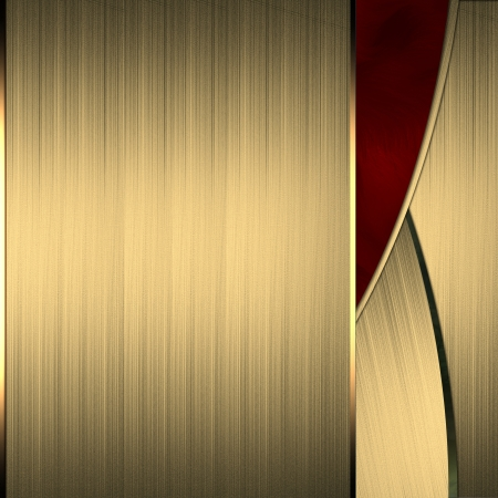 elegant background: Gold background with a beautiful red cut