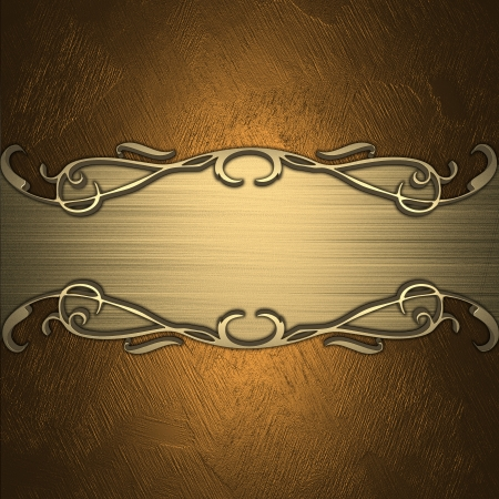 Gold background with a gold nameplate for inscription